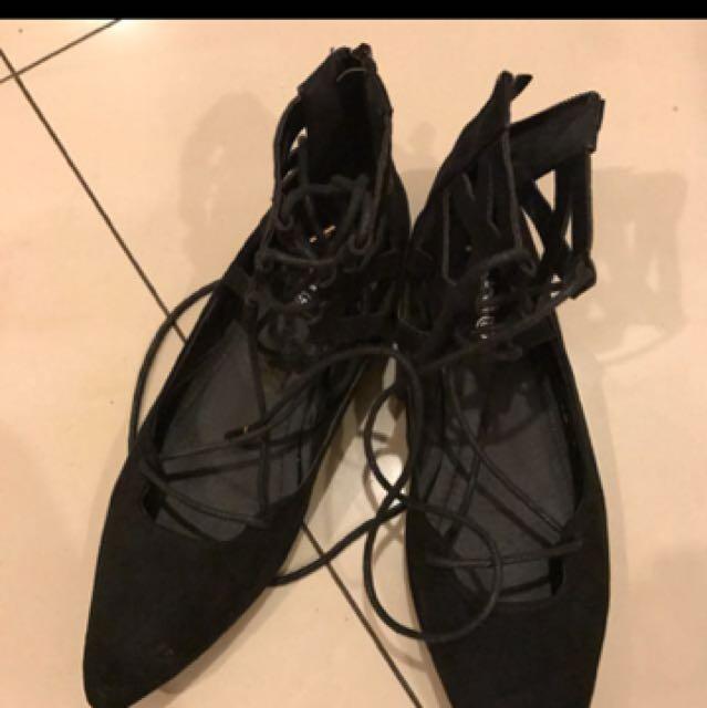 Black Ballerina Flatshoes