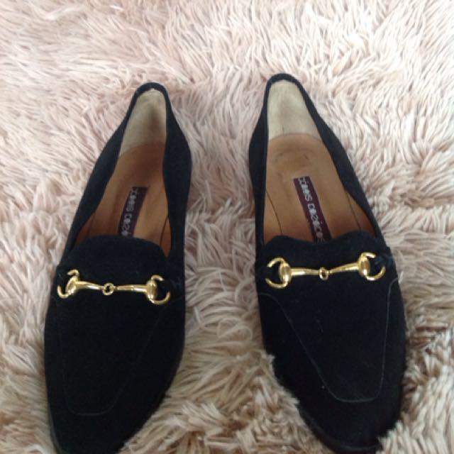 Black Suede Ladies Shoes