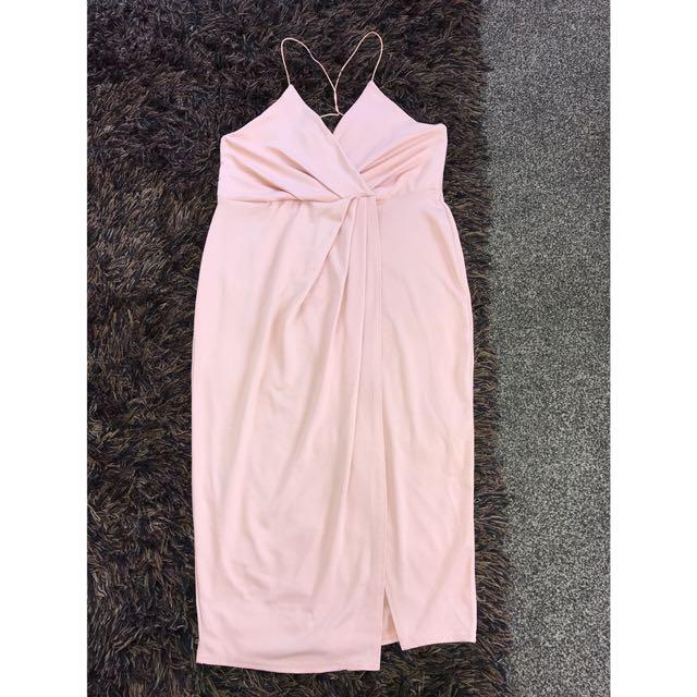 Boohoo Rose Wrap Dress