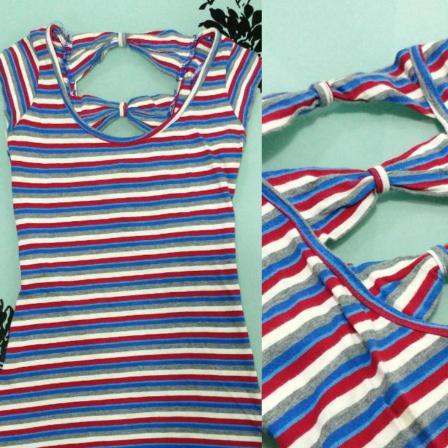 Bow tie striped top ❤