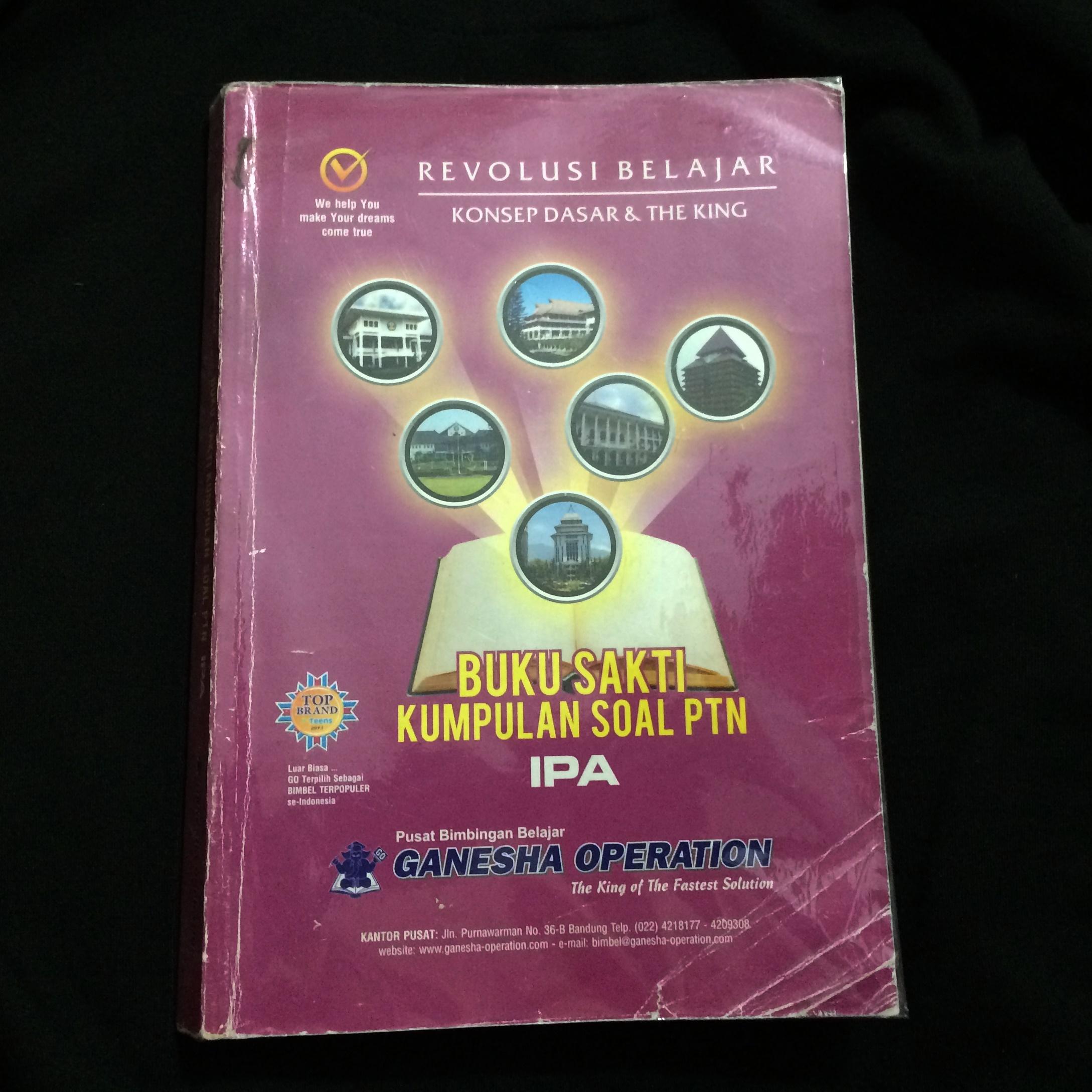 Buku Sakti Kumpulan Soal Ptn Ipa Ganesha Operation Kunci Jawaban Buku Alat Tulis Buku Di Carousell