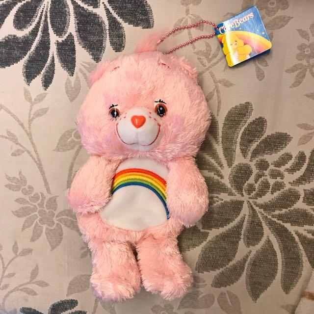 Carebear 粉紅色可愛吊飾(筆袋)