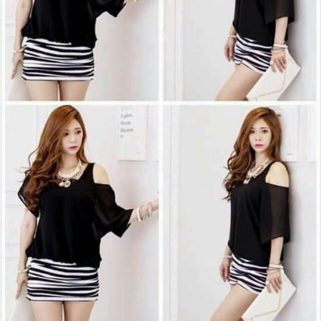 Chiffon Cotton Mini Dress 2 In 1