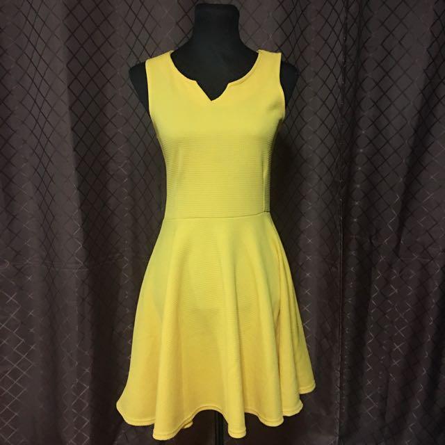 Clara Mustard Dress