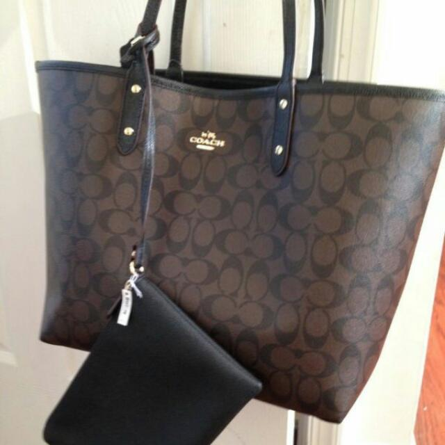 2030466eaf ... reduced coach signature reversible city tote and travel pouch new with  tag womens fashion bags wallets