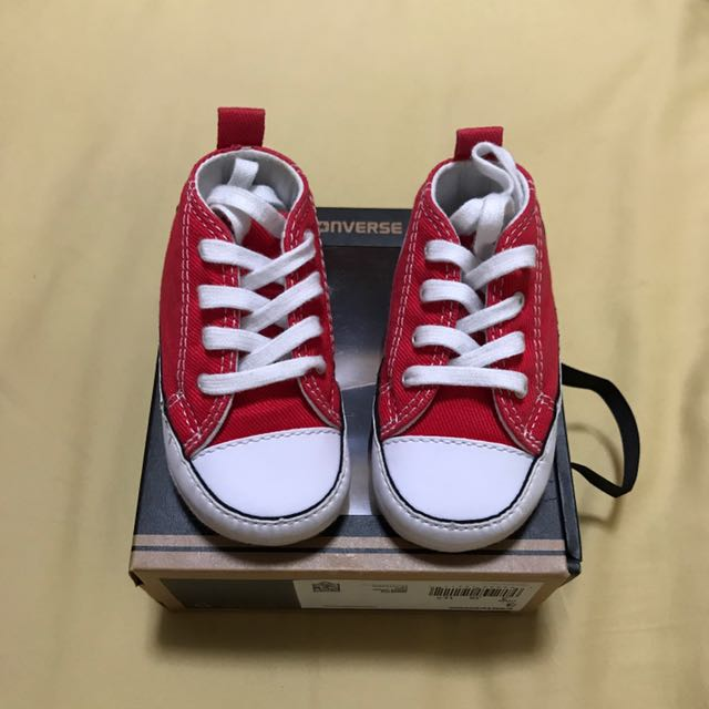 b91410067670 Converse Baby Red Size 3 Crib Shoes Sneakers