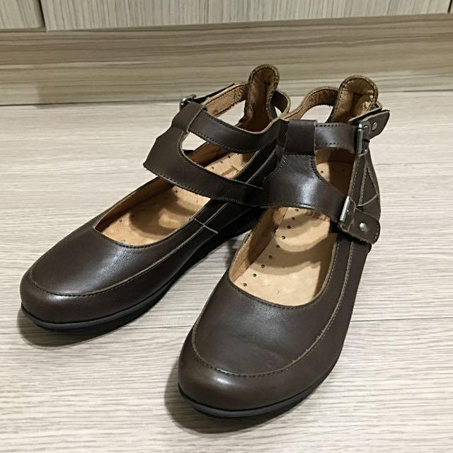 DK 真皮 瑪莉珍女鞋 36碼