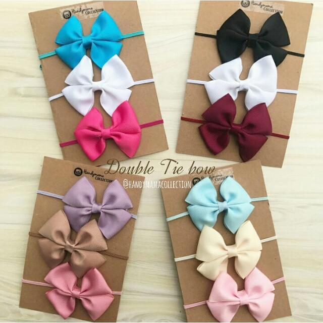 Double Bow Tie headpiece