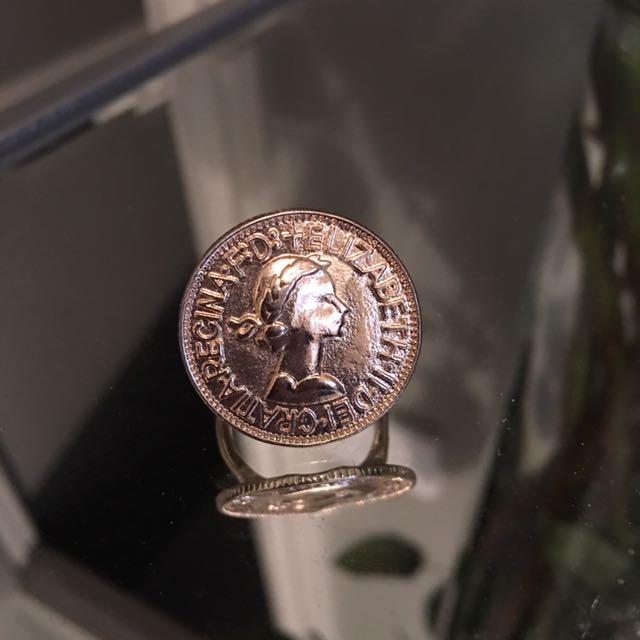 Fake Coin Ring Gold