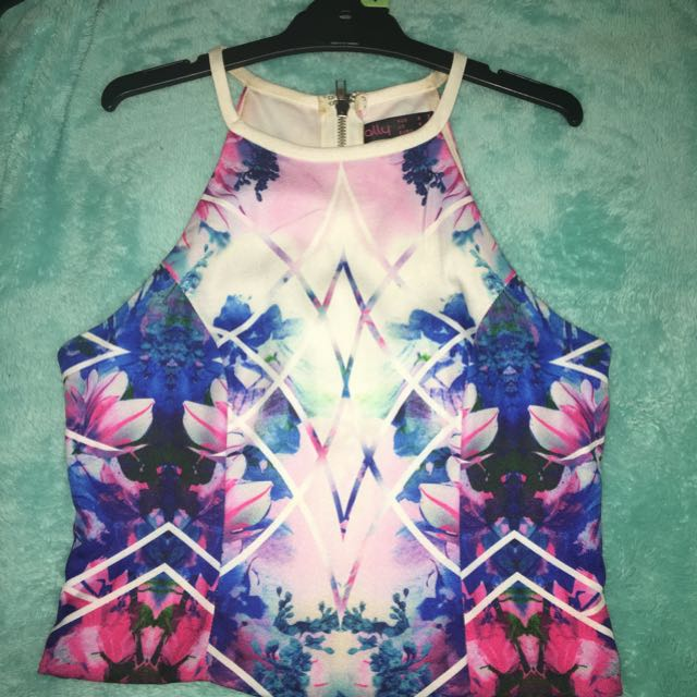 Flora Design Crop Top