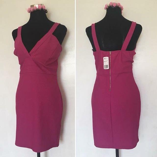 Forever21 Magenta Sexy Dress