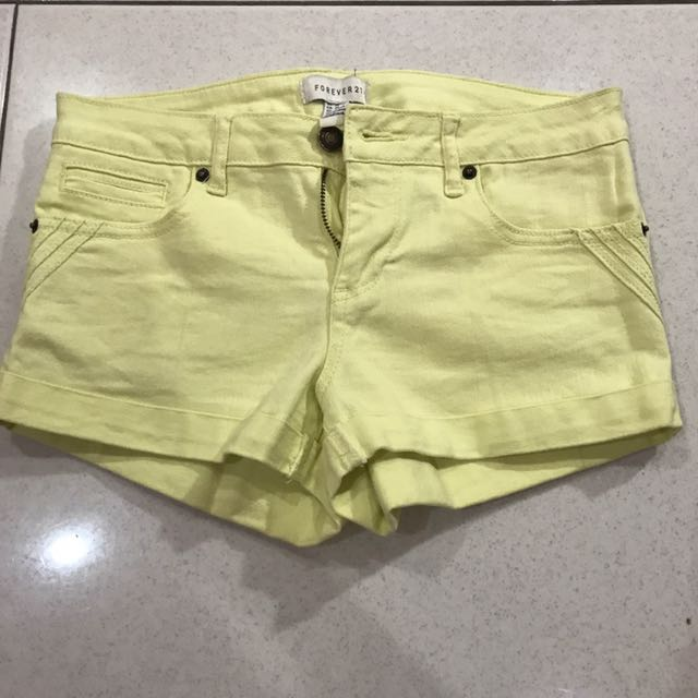FOREVER21 Yellow Shorts