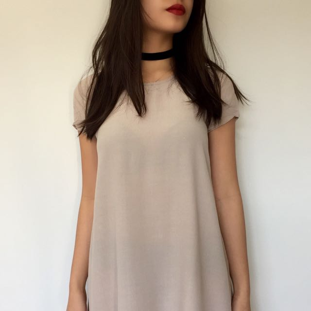 Forever 21 T-shirt Dress (Nude)