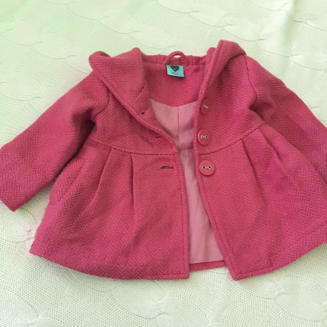 Pumpkin Patch Pink Coat Size 12-18 Months