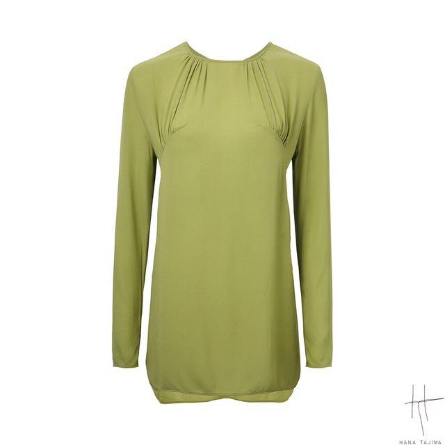 Hana Tajima X Uniqlo Women Gather Long Sleeve Tunic (Green)