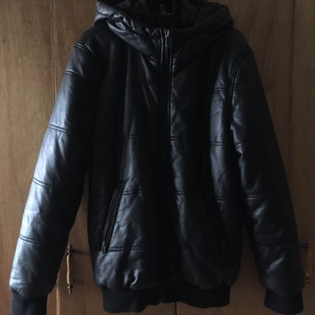 H&M Leather Jacket / Hoodie