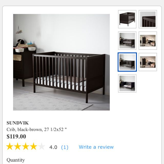 IKEA Sundvik Crib To Toddler Bed Read Description Please Babies Kids Prams Strollers On Carousell