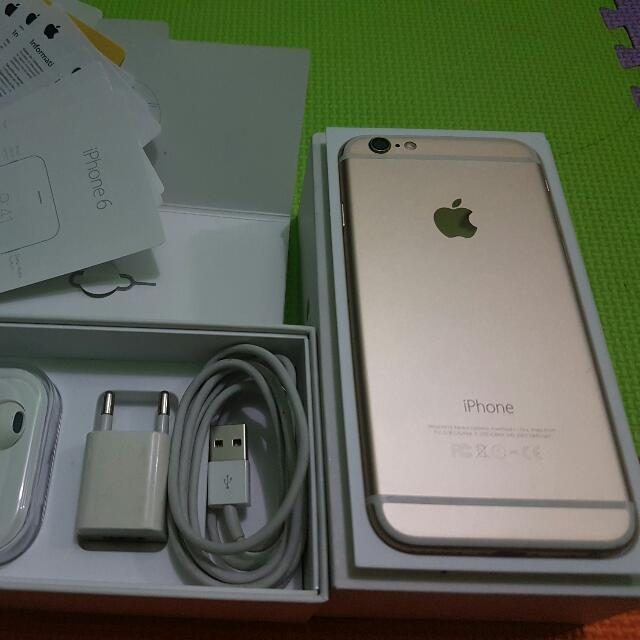 iPhone 6 128GB Gold Fullset No Minus