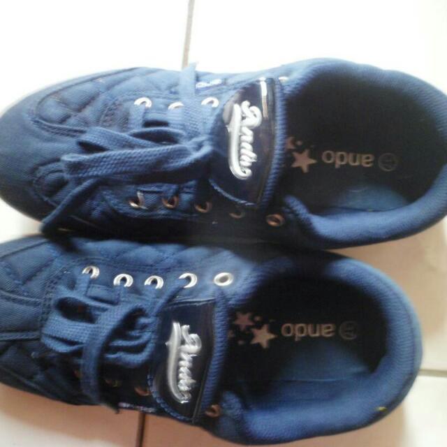 Kets Ando Navy Blue -Sepatu Kets Wanita