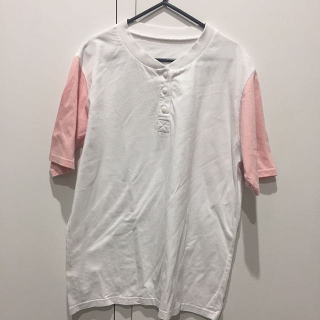 KOREAN STYLE PINK BASEBALL T SHIRT TOP