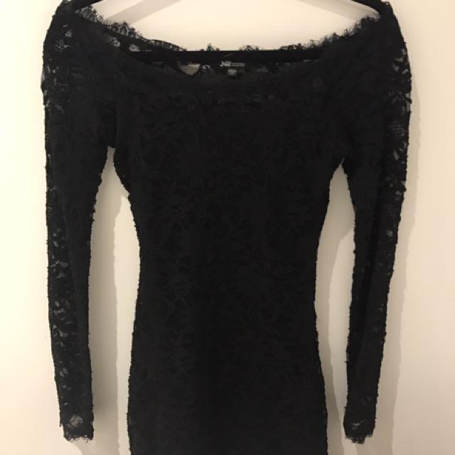 lace long sleeve bodycon dress