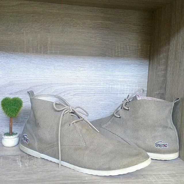 lacoste canvas shoes size 40