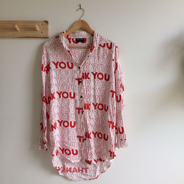 Lazy Oaf Thank You/ Fuck You Shirt