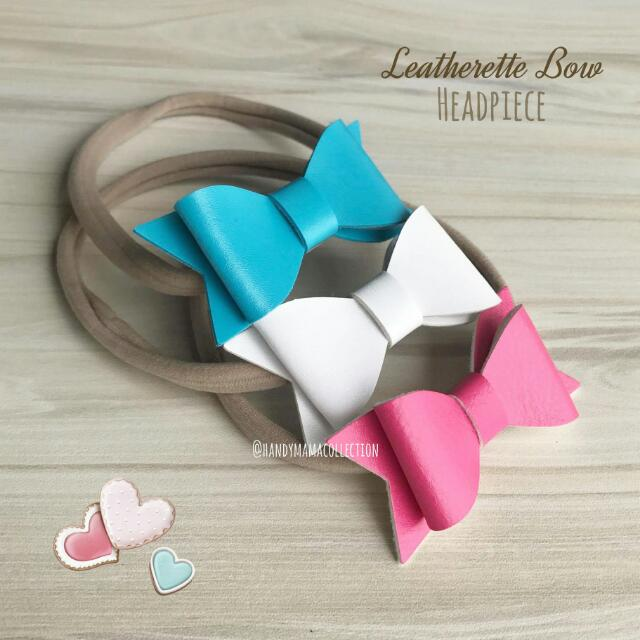 Leatherette Bow Headpiece