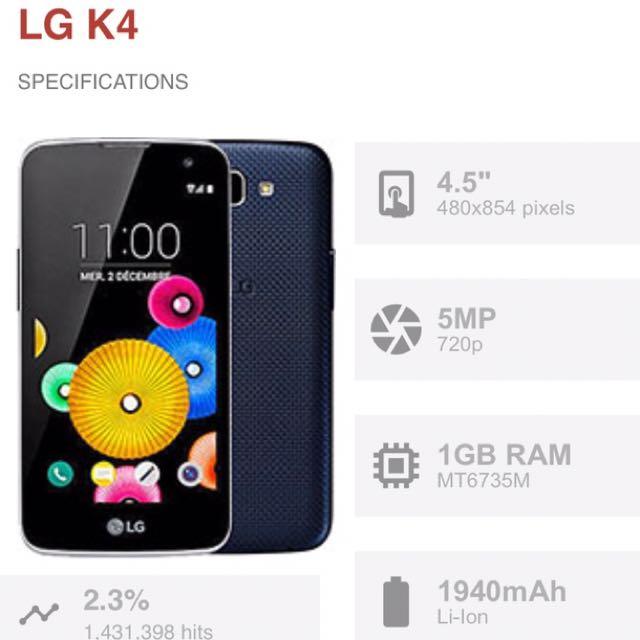 LG K4 Mobile