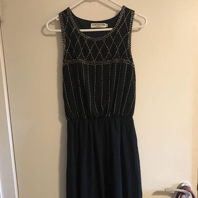 Long Black Dress Size 8