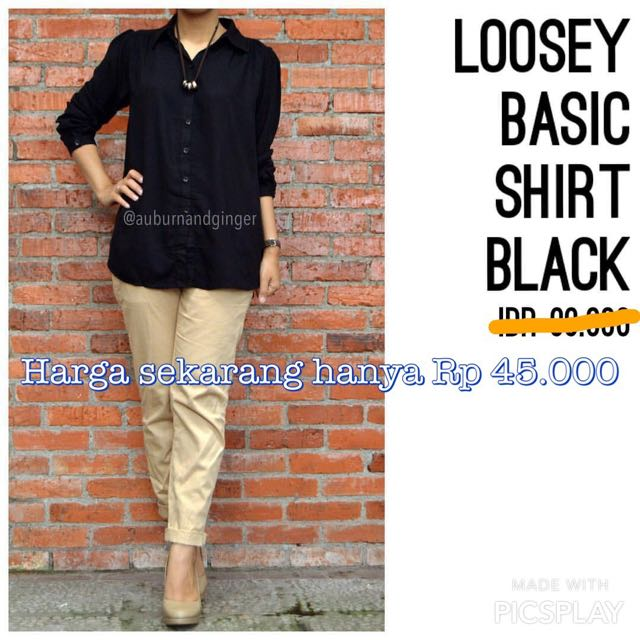 Loosey Basic Shirt Black