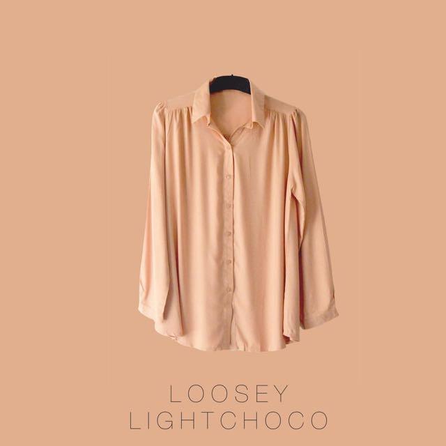 Loosey Basic Shirt Light Choco
