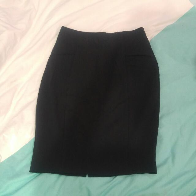 Mango Balck Pencil Skirt