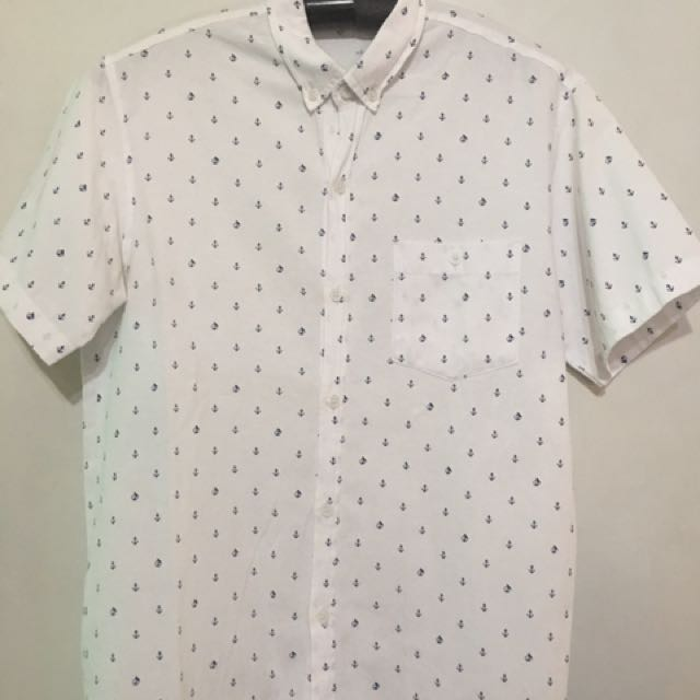 Men's Anchor Print Polo