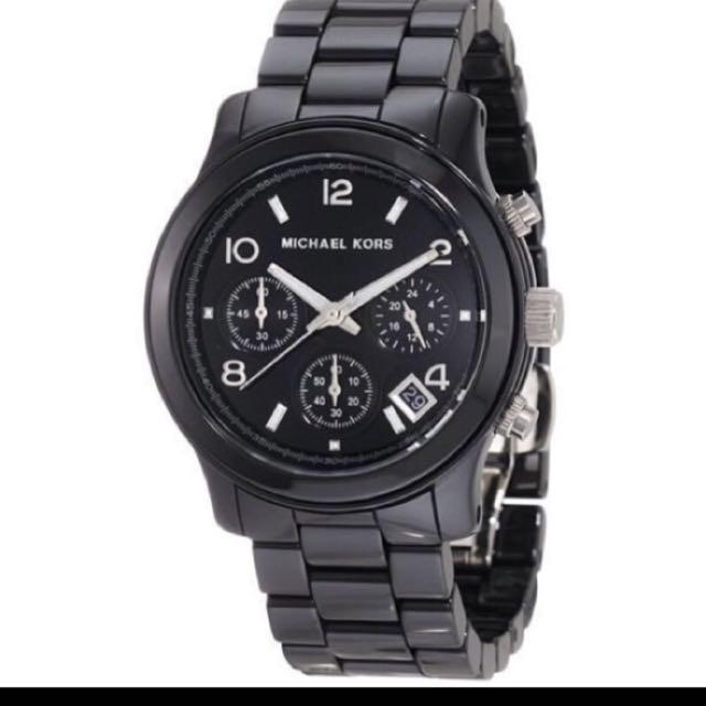 Michael Kors 經典三眼手錶 黑色