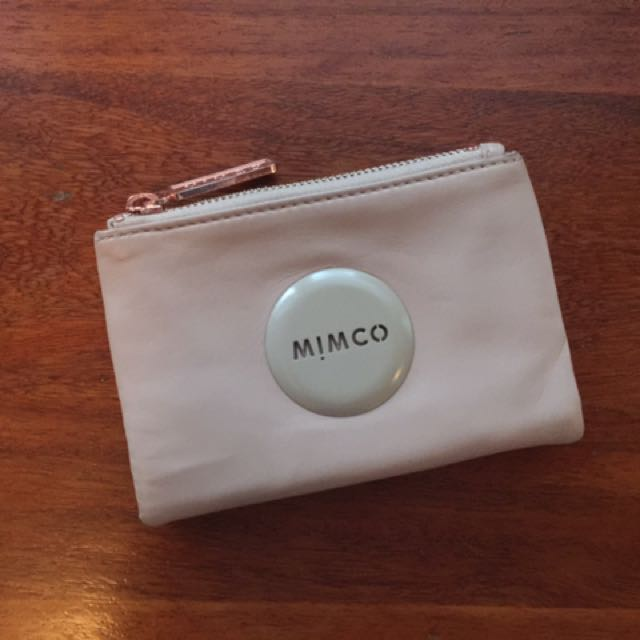 Mimco Nude Wallet With Rose Gold Hardware