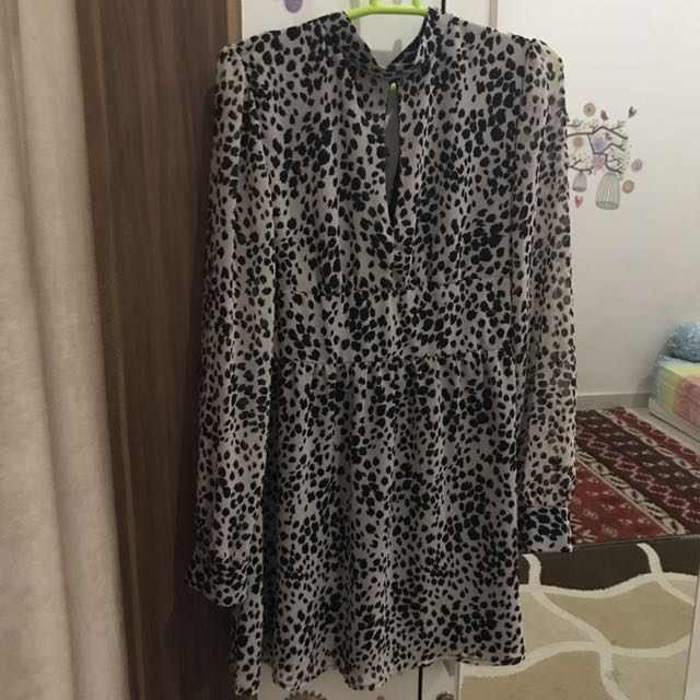 Mini Dress, Long Sleeve F21 FO Size M