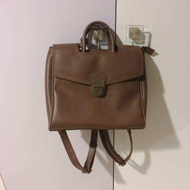 MIRYOKU 復古造型釦 兩用包包