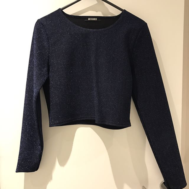 Missguided - Long Sleeve Blue Top