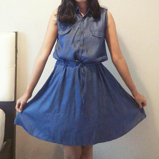 Navy Plain Dress