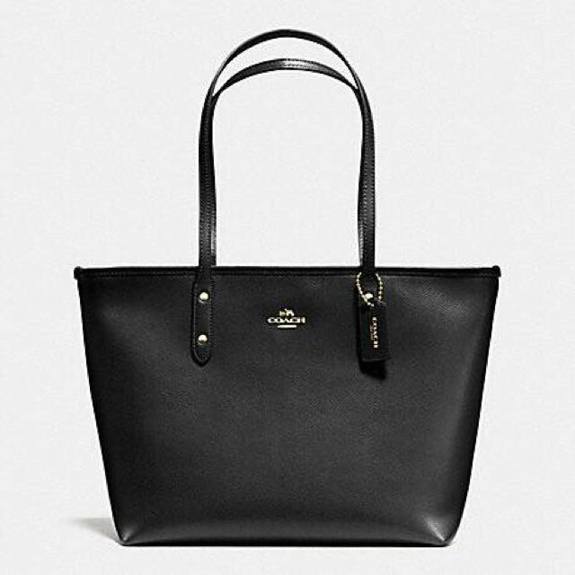 New 100% Ori Coach Zip Tote