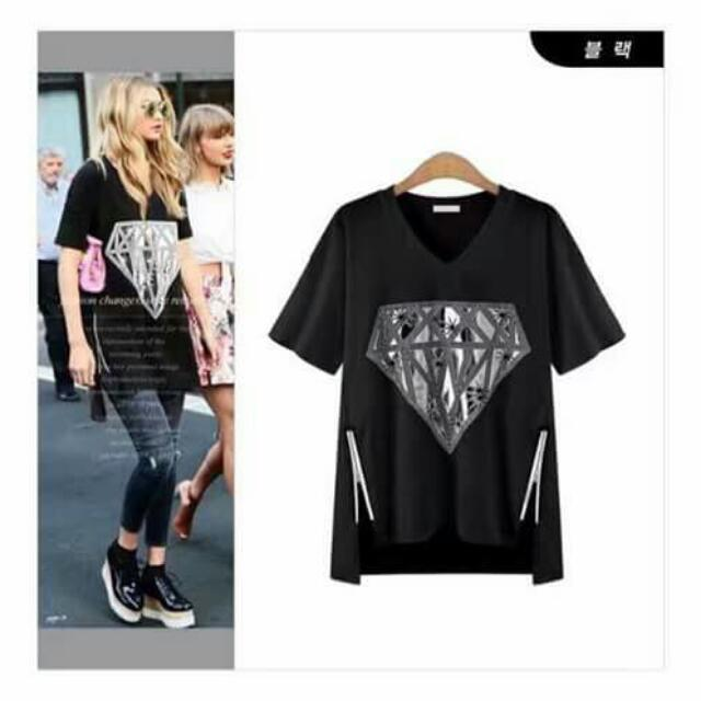 💕New Arrival U.S. Style Diamond Print Double Zipper Cotton Blouse💕