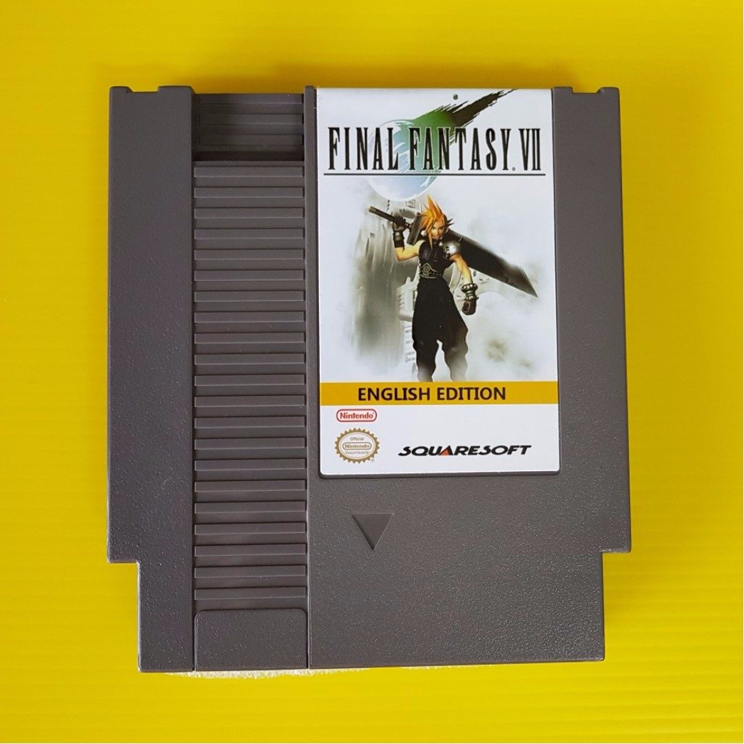 New Release Final Fantasy VII for Nintendo NES 72 Pin 8 Bit Game