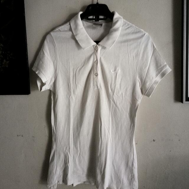 Nike White Polo Shirt