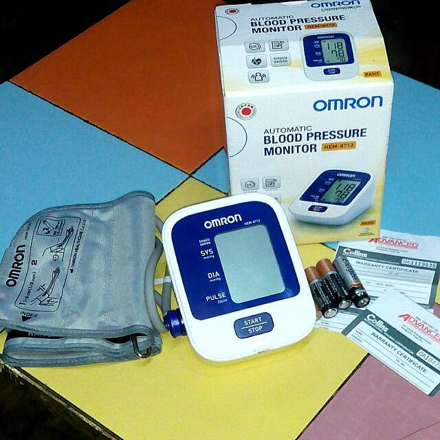 OMRON BP with Free Batteries & Adapter