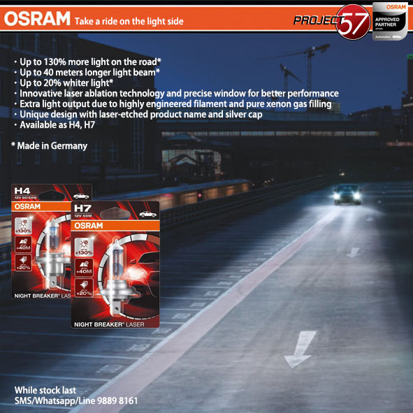 osram night breaker laser h7 h4 motorbikes motorbike accessories on carousell. Black Bedroom Furniture Sets. Home Design Ideas
