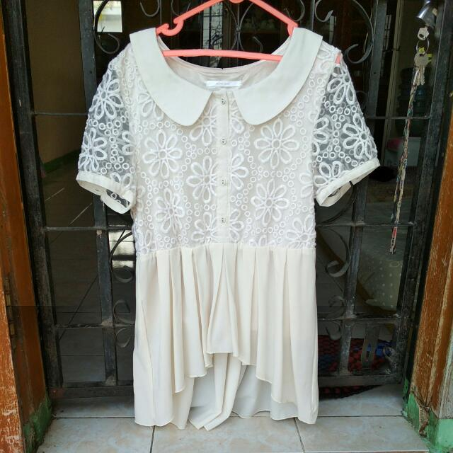 Peplum Broken White