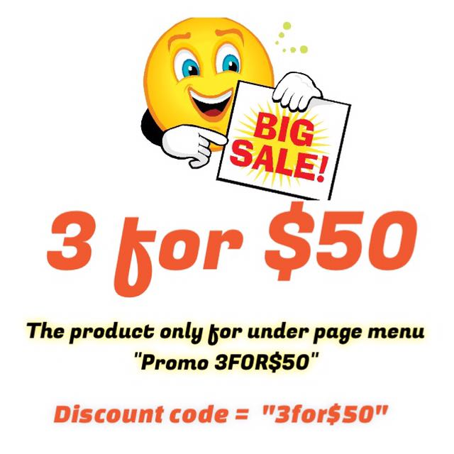 Promo 3 For $50