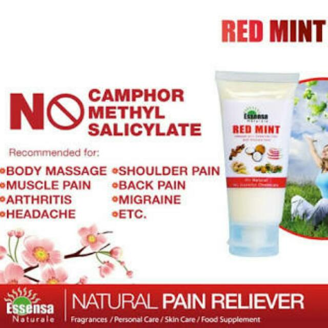 Red Mint Pain Reliever Cream