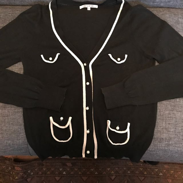 Review Size 14  Black Cardigan